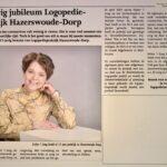 Krantenartikel jubileum